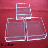 Кварцевое стекло с предохранителем с высоким разрешением квадратных контейнер