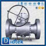 """Снижение Didtek отверстия 6*4"""" металлические установлены поддельные цапфу шарового клапана с червячной передачи"""