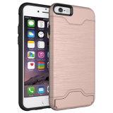 La fabbrica comercia le casse all'ingrosso del telefono della fessura per carta 2in1 per il iPhone 7/8