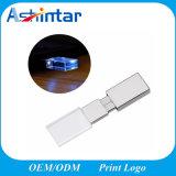 Aandrijving van de Flits van het Kristal USB van het Geheugen van de Flits van het LEIDENE de Lichte Metaal USB van de Stok USB