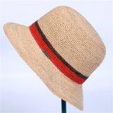 夏の方法わらのバケツの帽子