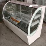 vitrine à gâteaux permanent de plancher arrière ouvert la porte coulissante