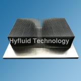 Dissipatore di calore di rame di alluminio con le alette di raschiamento, dissipatore di calore del condotto termico