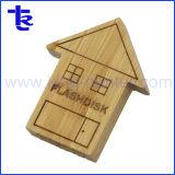Maison de bois de gros bon marché en vrac stylo lecteur de mémoire Flash