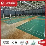 Motif de revêtements de sol en vinyle de sable professionnels pour le badminton Cour25406-5.0mm Hj y