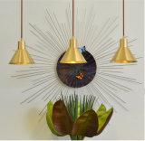Lâmpada Pendente Industrial de Ouro da moda em Post estilo moderno para uma cozinha equipada, uma sala de jantar ou um espaço de trabalho, 1 lâmpada, E27