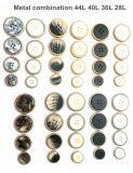 Vestuário de moda, combinação de liga de metal de alta qualidade botões, os botões de combinação de resina de metal, acessórios de moda, usado para acessórios de vestuário.