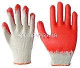 ポーランドのためのPlain Surfaceの安いRed Latex Coated Gloves