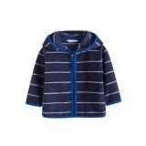 子供のジッパーポリエステルしまのある北極の羊毛のジャケット