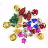 Caja de regalo mezcla de decoración de Navidad Bolas de plástico G72