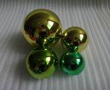 304 Spiegel-Edelstahl, der Kugel überzogene Goldfarben-Höhlung anstarrt