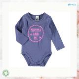 긴 소매 작풍 아기는 보통 색깔 아기 Playsuits를 입는다