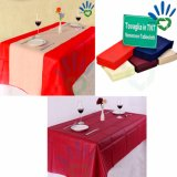 tampa de tabela não tecida do banquete da tela dos PP Spunbond do Polypropylene do Tablecloth de 50g Disposalbe