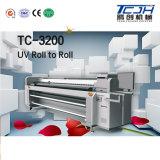 높은 안정성 디지털 잉크젯 프린터를 가진 UV 인쇄 기계를 구르는 큰 체재 3.2m Ricoh Gen5 Printhead 롤