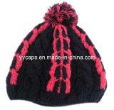 POM (YYCM-120366)를 가진 색깔에 의하여 뜨개질을 하는 모자