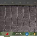 Couro de imitação do crocodilo do couro gravado do couro da pele do jacaré do tratamento do envelhecimento