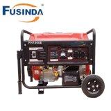 6 квт с водяным охлаждением воздуха бензиновые генераторы с ручкой и комплект колес