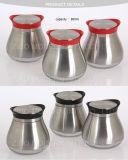 Vidrio redondo de acero inoxidable Wholesales Candy Cookie Jar