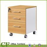 Tableau de meubles en bois Meubles et armoires de fichier de 3 tiroirs verrouillables