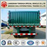 2개의 차축 판매를 위한 녹색 똑바른 광속 측벽 트럭 트레일러