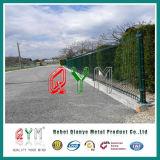 Покрынные PVC панели сваренной сетки /Galvanized загородки ячеистой сети сваренного металла