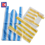 HDPE 노란 색깔에 의하여 분리되는 플라스틱 t-셔츠 쇼핑 백