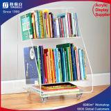 Étalage acrylique clair de magasin de présentoir de livre de présentoir de système