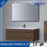 Vanidad del cuarto de baño de la melamina de la alta calidad sola con el espejo