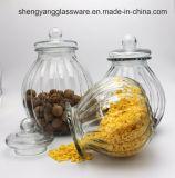 Frasco de vidro do armazenamento do alimento, frasco de vidro com a tampa para o uso da casa