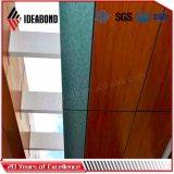 Painéis compostos de alumínio do revestimento Ae-306 de madeira decorativo para o escritório Partion
