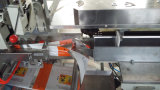 Flujo de envolver automática máquina de embalaje para el pan, dulces, galletas
