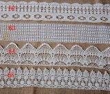 Merletto del fiore del ricamo del cotone di modo per gli accessori dell'indumento