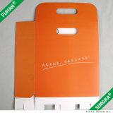 Contenitore di regalo piano dell'imballaggio del cartone arancione di colore