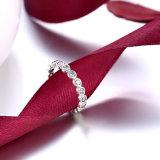 925 순은 여자를 위한 간단한 원형 지르콘 반지 형식 보석