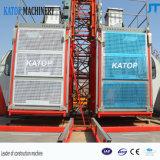 Подъем конструкции клетки двойника нагрузки Lifter 1.5t здания Sc150/150