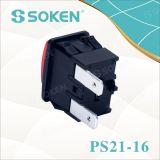 Переключатель кнопка 250VAC распаровщика одежды Soken 16A 1 Поляк