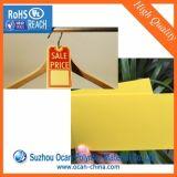 印刷のための黄色いマットプラスチック堅いPVCシート