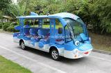 14마리의 시트 돌고래 전기 관광 버스