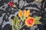 Яркие цветы водорастворимые вышивка кружевом по пошиву одежды