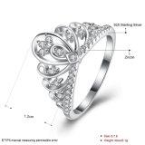 925 순은 크라운 지르콘 둥근 은 반지 형식 보석