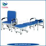 Chaise d'accompagnement pliable pour hôpitaux en acier inoxydable