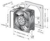 ventilador axial plástico do impulsor DC8038 do elevado desempenho de 80mmx80mmx38mm