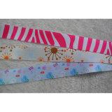 bande estampée colorée de Grosgrain de bande tissée par 5mm-75mm pour l'enveloppe de cadeau/fleur
