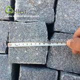 Cubo naturale all'ingrosso della strada privata di spessore del granito 5cm del nero del sesamo G654