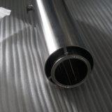 Roestvrij staal dat Pot met het Ronde Glas van het Deksel en van het Gezicht haalt