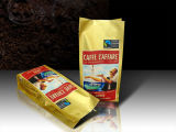 Matte Seite Gusset Kaffee-Tasche