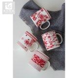 Gros en Chine usine d'impression couleur rouge 12oz tasse à café