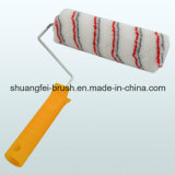 Grau u. Red Stripe Paint Roller mit Handle