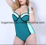 Grande Swimsuit para mulheres, desgaste de uma peça só do tamanho da natação do Mais-Tamanho