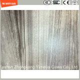 Impression de Silkscreen de la qualité 3-19mm/gravure à l'eau forte acide/sûreté givré/configuration gâchée/verre trempé pour le mur de meubles de maison et d'hôtel/partition avec SGCC/Ce&CCC&ISO